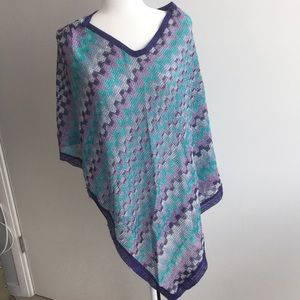 Missoni knit Poncho / cover up